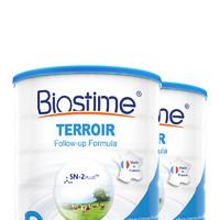 19日0點一件8折:BIOSTIME合 生元沃藍2段嬰兒配方奶粉6-12月*2罐