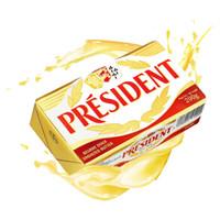 PRESIDENT 总统 发酵型动物淡味黄油块 200g *8件
