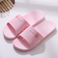 泰蜜熊一體成型全新料PVC情侶款厚底防滑夏季涼拖鞋浴室防滑洗澡拖鞋