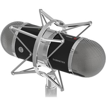 塞宾(SABINETEK)ASMR SMIC-1全景麦克风录音ASMR荔枝直播 双耳话筒 玄铁黑 有线版 直播录音
