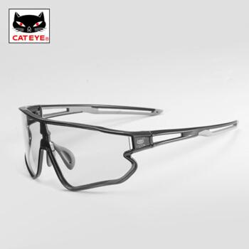 猫眼(CATEYE)骑行眼镜变色偏光跑步运动自行车防风带近视太阳镜男女 变色眼镜