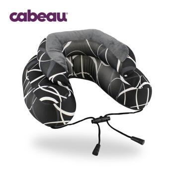 Cabeau Microbead系列 微珠头枕 u型枕 汽车 高铁 飞机旅行头枕 颈枕 午睡午休枕 灰色