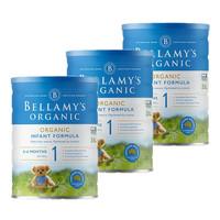 Bellamy's 貝拉米 有機嬰幼兒配方奶粉 1段 900g/罐 適合0-6個月 3罐裝