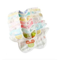 babytool 倍比途 嬰兒紗布圍兜 口水巾 6條裝 *2件
