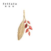 fellala翡拉拉度假時尚鎖骨鏈 原創復古民族風吊墜 氣質小項鏈女 吊墜