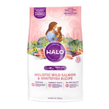 美国Halo自然光环成猫粮 鲜肉无谷 鸡肉味 进口猫主粮 10磅/4.53kg 鸡肉成猫粮