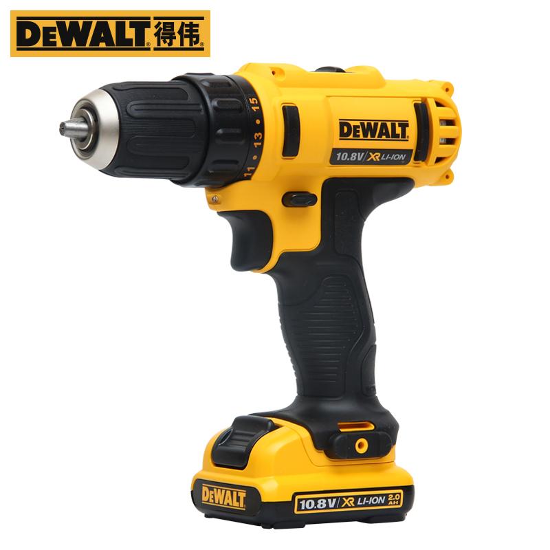 DEWALT 得伟 10.8V锂电充电钻多功能电动螺丝刀电起子专业级DCD710