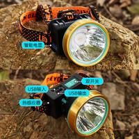 頭燈強光充電超亮頭戴式夜釣魚led疝氣感應遠射戶外礦工電筒家用