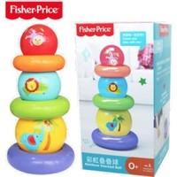 有券的上、京东PLUS会员:Fisher-Price 费雪 婴儿彩虹叠叠球 *3件