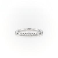 Blue Nile 密钉钻石结婚戒指14k 白金(1/6 克拉总重量)