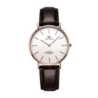 天王twinkle系列簡約中性表時尚皮帶石英手表