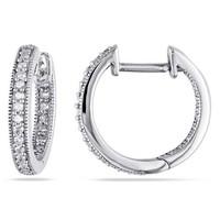 AMOUR MS004801 1/4克拉 14k白金耳環