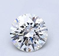 Blue Nile 1.01克拉圆形切割钻石(切工EX 成色F色 净度VS2)
