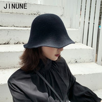 JINUNE 秋冬羊毛針織漁夫帽