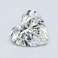 Blue Nile 1.02克拉心形钻石(切工VG 成色G色 净度VS2)