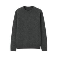 双11预售:MUJI 无印良品 男式 美利奴羊毛 中针距 圆领毛衣