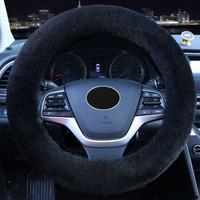 毛絨汽車方向盤套通用型冬季新款保暖三件套