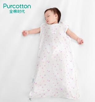 Purcotton 全棉时代 婴儿双层纱布背心睡袋 80x48cm