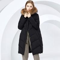 反季特卖:BOSIDENG 波司登 B80141038 女士中长款羽绒服