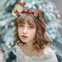 圣誕節超仙女森系鹿角可愛頭箍