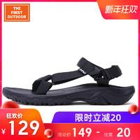 美國領先戶外舒適快干運動時尚沙灘鞋橡膠耐磨涼鞋搭扣情侶款 *2件