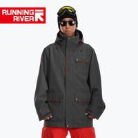 Running River 奔流 N5427N 男式專業單板滑雪服防