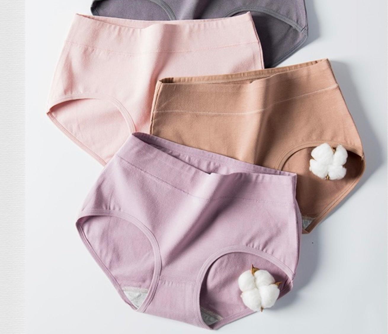Langsha 浪莎 61082-4 棉质女士内裤 4条装