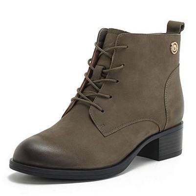 BASTO 百思图 YWR02DD8 女士方跟短靴