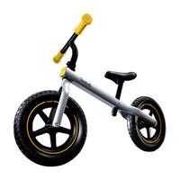 柒小佰 兒童滑步車平衡車兒童無腳踏單車男女童車2-6歲寶寶滑行車  銀色