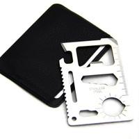 Neyankex 多功能不銹鋼救生刀卡 11種功能 2件裝