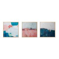 星川現代抽象裝飾畫北歐簡約臥室床頭掛畫油畫ins家居多彩套餐3