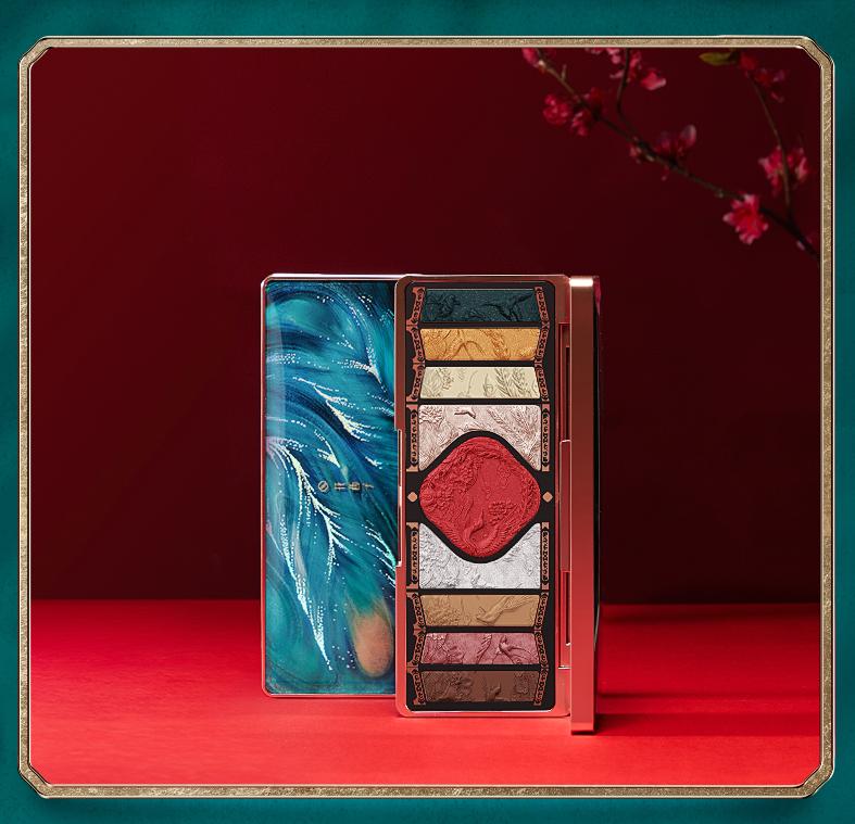 Florasis 花西子 新年限定百鸟朝凤彩妆盘 (纸雕贺卡+浮雕眼影+镂雕宫扇)