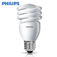飛利浦三基色節能燈泡螺旋e27e14螺口家用電臺燈U型超亮日光燈管