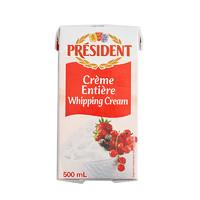 總統稀奶油 淡奶油 500ml *3件