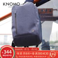 KNOMO男士背包防水雙肩雙肩包Woodley個性背包旅行包男 藍色