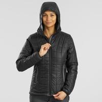 限尺碼 : 迪卡儂 TREK 100 女式戶外連帽保暖填充夾克
