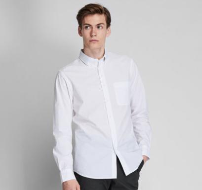 UNIQLO 优衣库 419014 男士长绒棉衬衫
