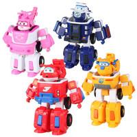 超級飛俠玩具奧迪雙鉆(AULDEY)超級飛俠大變形機器人4只裝+湊單品