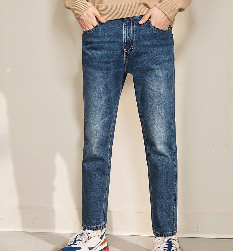 A21 R494126027 男士低腰直筒牛仔裤