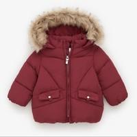 限尺码:ZARA  05644554671 女婴保暖棉服外套