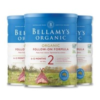 BELLAMY'S 贝拉米 有机婴儿奶粉 2段 900克*3罐
