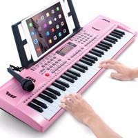 八度寶貝 61鍵兒童電子琴玩具 可愛粉