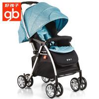 gb好孩子嬰兒車推車可坐可躺輕便折疊簡易手推車寶寶四輪推車c826 波點藍C826-N110GG