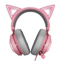 Razer 雷蛇 北海巨妖萌貓版 粉晶可愛女生 電競游戲頭戴式耳機
