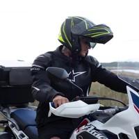 FASEED摩托車揭面盔雙鏡片男全機車跑盔個性酷女冬季防霧揭面頭盔