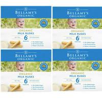 Bellamy's 貝拉米 嬰幼兒有機無糖磨牙餅干 100g (6個月以上) 4件裝