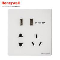 Honeywell 霍尼韦尔 境尚系列 白色五孔带双USB插座