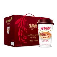 香飄飄奶茶 紅豆味奶茶12杯禮盒裝 早餐沖調飲品768g 年貨送人禮盒 *2件