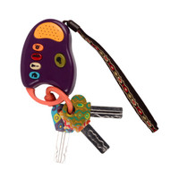 京東PLUS會員 : B.toys 比樂 趣味鑰匙 樂匙車鑰匙 紫色 感統玩具 18個月+ BX1200Z *3件