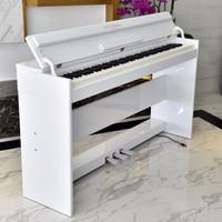 博仕德 電鋼琴88鍵電子鋼琴 力度鍵-木紋白(雙人凳+禮包)